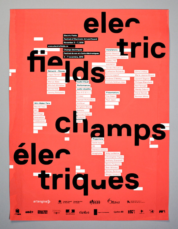 Electric Fields on Behance #murray #electric #coulombe #xavier #poster #fields