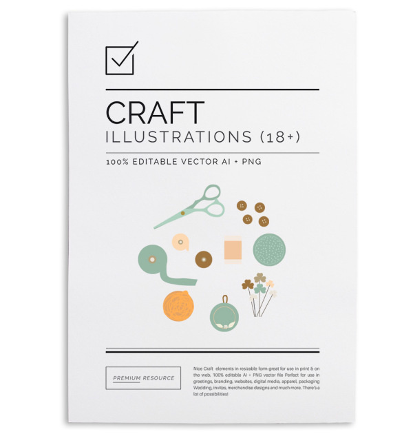 Craft Clip Art & Patterns Set $9.00 Made this illustration/clip art and patterns bundle specially for all you DIY/craft lovers out there!