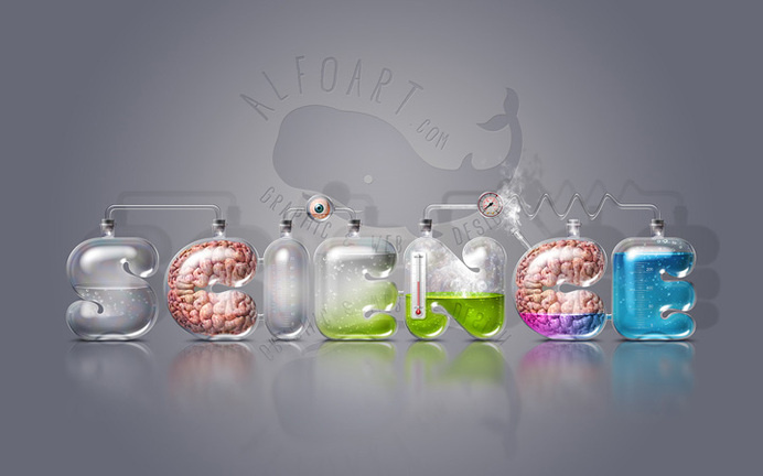 Laboratory Glassware Letters. Realistic glass text effect http://alfoart.com/laboratory_glassware_letters_1.html #tutorials #biology #laboratory #lab #brain #smart #glass #photoshop #chemistry #glassware #science