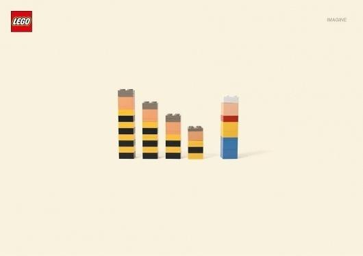 Nueva Campaña Gráfica de LEGO | Facebook #advertisment #print