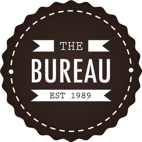 The-Bureau.png (458×458) #stamp #type #design #graphic #the #bureau #ciricle #edd #brown #gray #chrest #logo #layout #typography