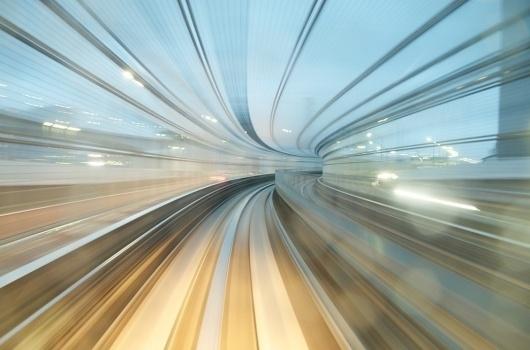 Yurikamome Line / AppuruPai | Photographie #train #speed #photography #art #japan