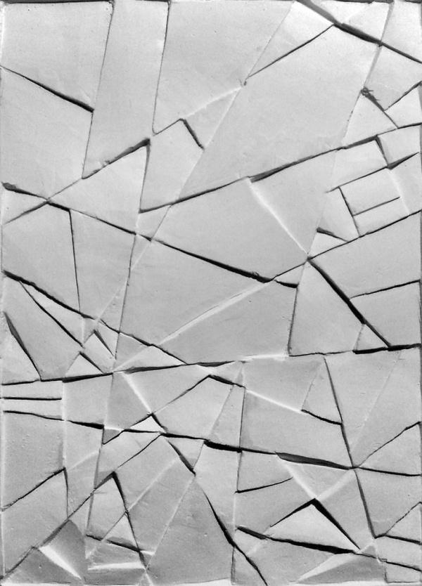 Gypsum relief by *monguz on deviantART #geometry #space #white #crack