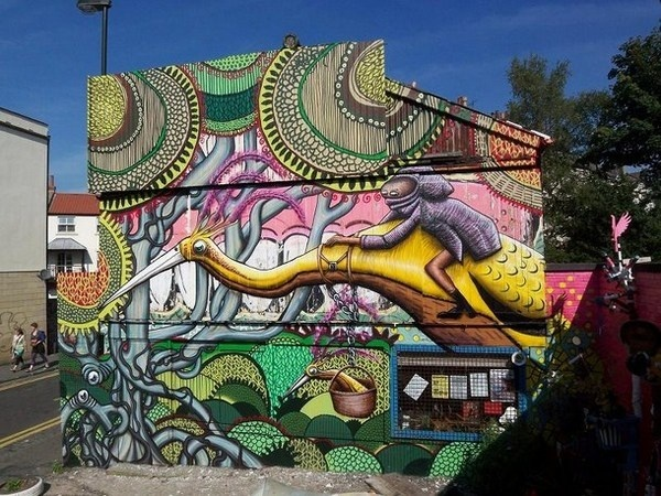 Artist Phlegm colorful art #abstract #surrealism #art #street #surreal