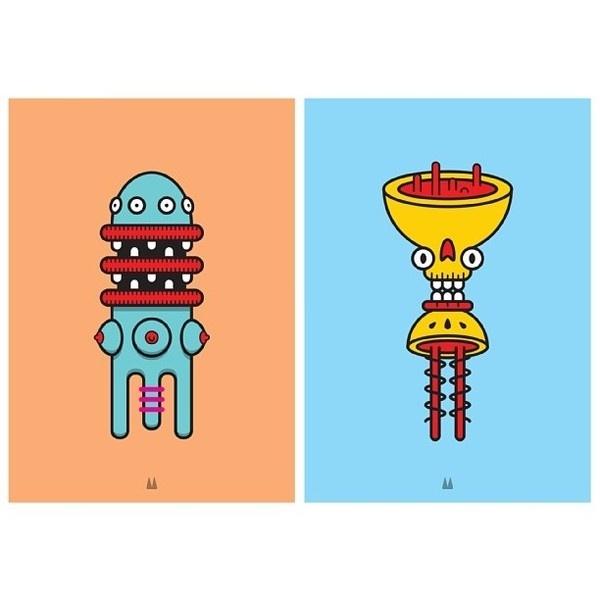 Monster Totem Series Vol:4 #illustration #vector #monster