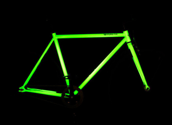 solar activated glow in the dark bicycle by pure fix cycles #in #the #glow #bike #dark