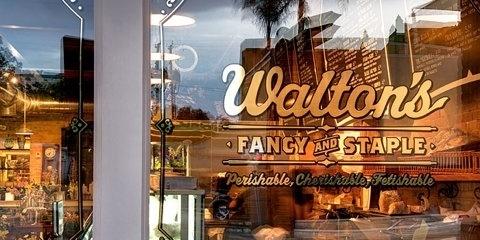 Walton's Store Front #window #typography