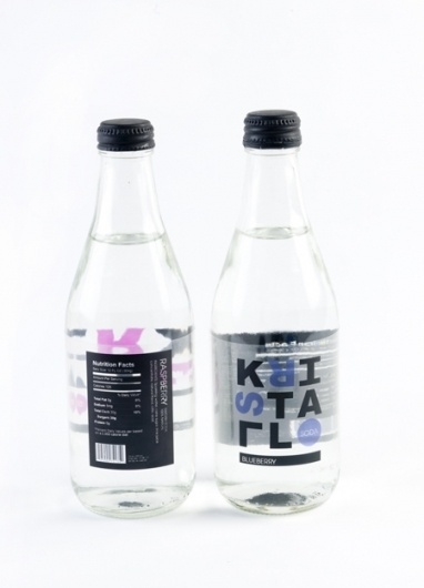 Kristall Soda - Amanda Jane Jones #packaging #type #water #bottle
