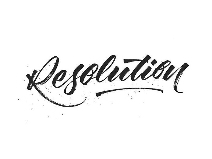Resolution by Michael Moodie #lettering