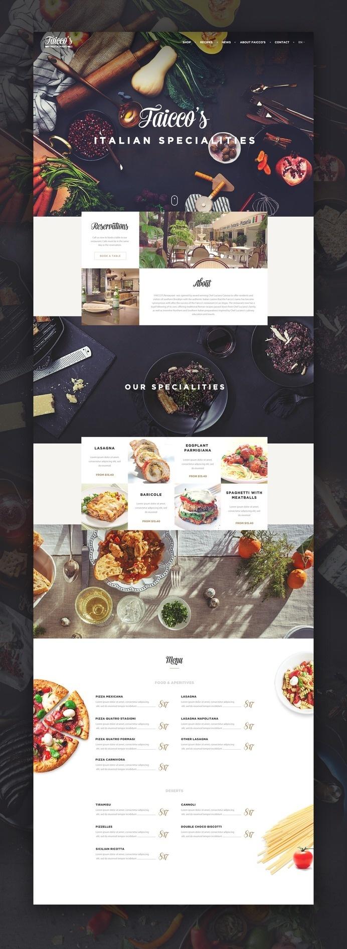 ui ux web design #food #restaurant #website #webdesign #web