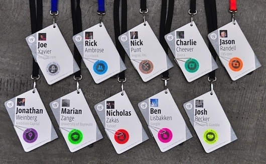 Fonts In Use – f8 Conference Badges #identity
