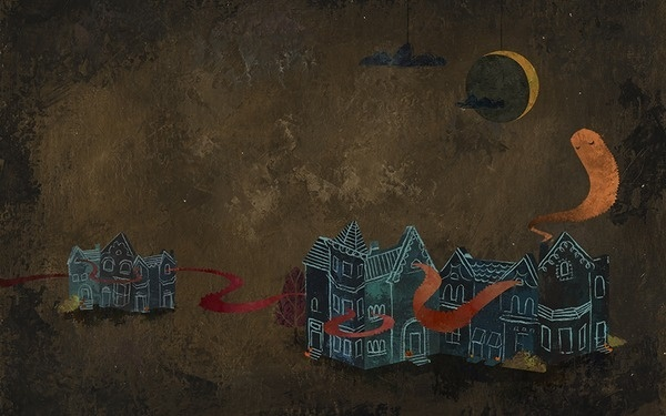The Halloween Wallpaper Project featuring Meredith Sadler #illustration