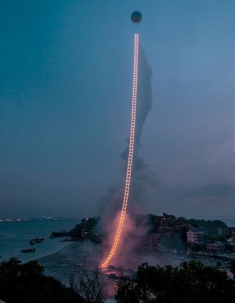 Sky Ladder, realized at Huiyu Island Harbour, Quanzhou, Fujian