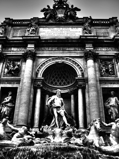ROME IN BLACK & WHITE on the Behance Network #rome #white #black #and