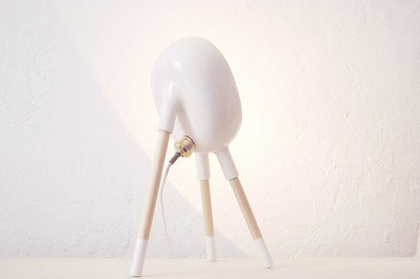 Beabop Lamp - Sergio Guijarro | Ceramic, brass and wood. #lamp #beabop #sergio #ceramics #design #wood #brass #art #guijarro #light