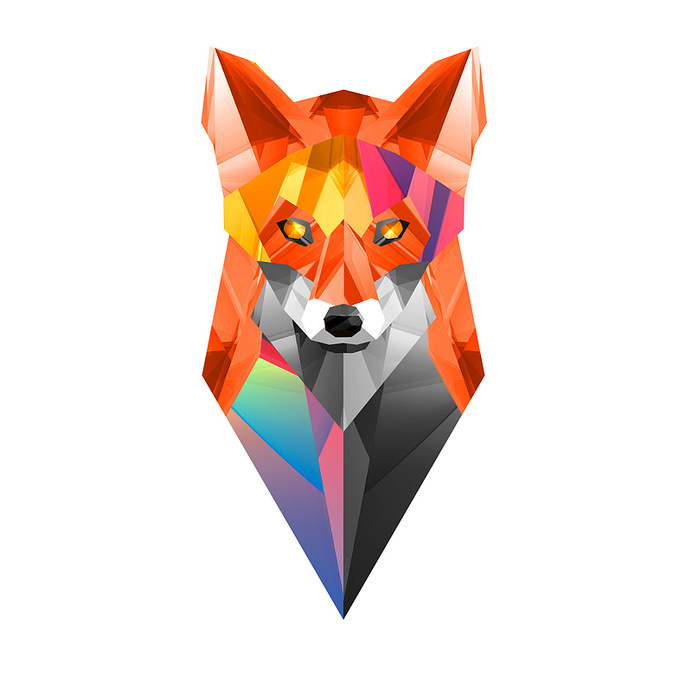 FACETS – Handsome II #fox #print #illustration #lowpoly #art