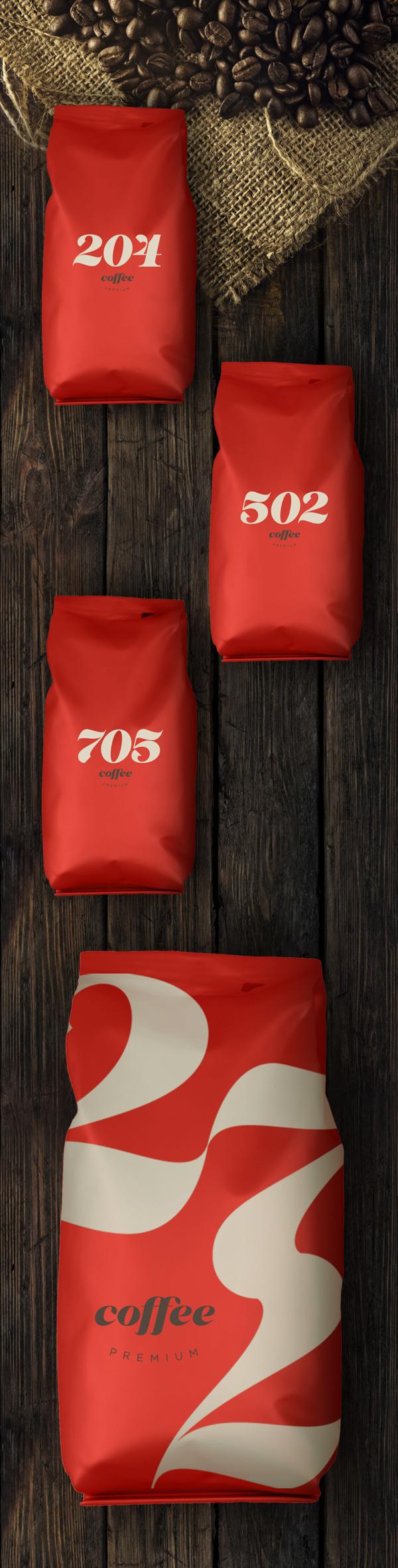 Type & Coffee Packaging #packaging #coffee