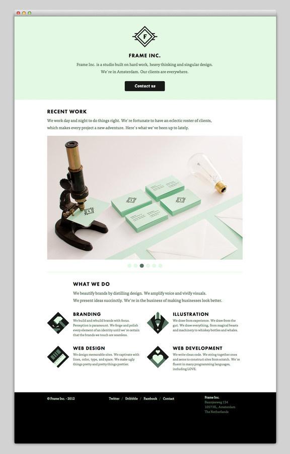 Frame Inc #portfolio #design #website #layout #web