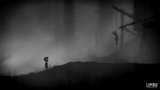 Gallery (LIMBO) #white #black #illustration #and #game