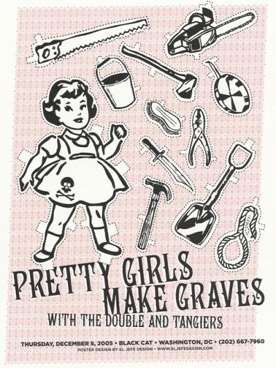pretty girls | coqueterías #pink #print #design #graphic #poster
