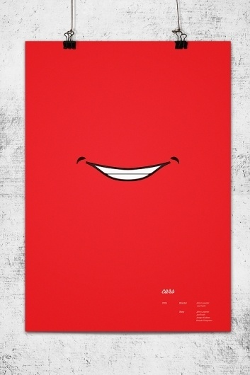 Pixar Minimal Posters on the Behance Network #lee #wonchan #minimalism #rmit #melbourne #cars #tribute #minimal #poster #minimalist #pixar