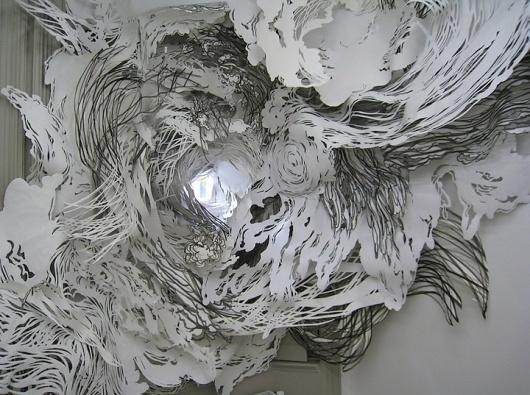 Mia Pearlman | iGNANT #cut #installation #out #pearlman #paper #mia