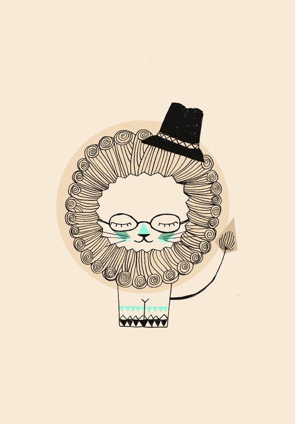 S W A N T J E · U N D · F R I E D A #cute #illustration #lion