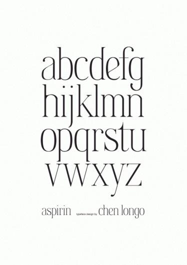 Aspirin Typeface on the Behance Network #longo #aspirin #typeface #chen #typography