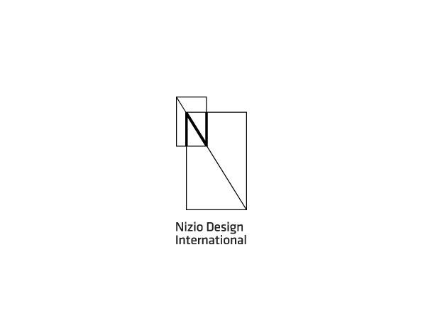Nizio Design Intl Corporate ID #thin #lines #flexible #corporate #logo