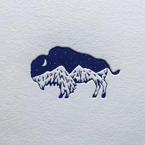 My bison mountain logo design #logo #design #identity #branding