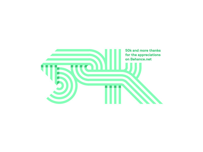 dribbblepopular: 50k Original: http://ift.tt/1uBlcZX #lines #type #logo