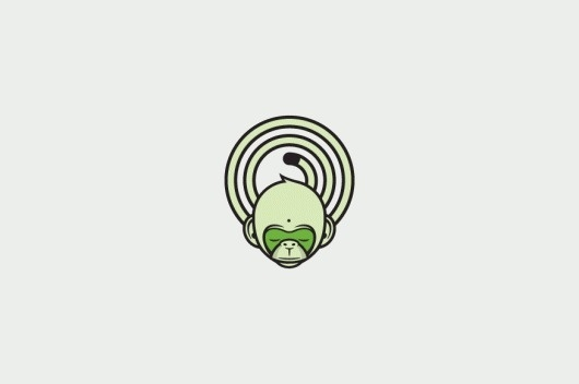 David Iglesias #mark #monkey #identity #logo #green
