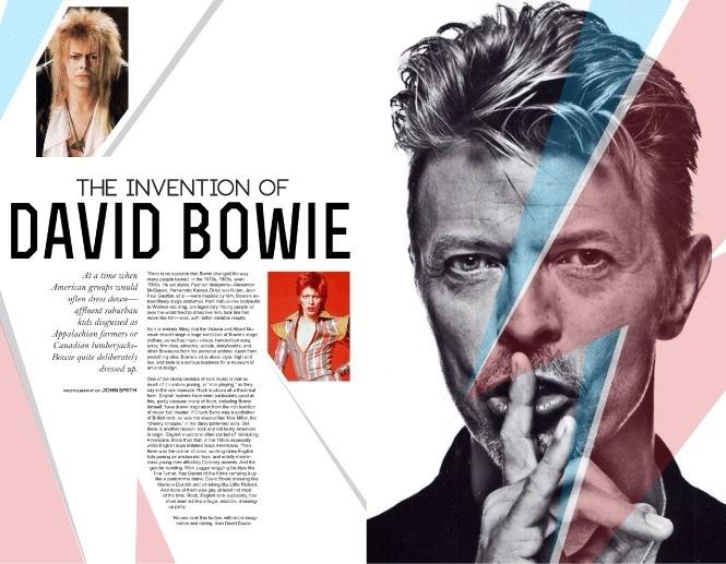 Portfolio / Print / Bowie Layout #profile #design #layout #editorial #bowie