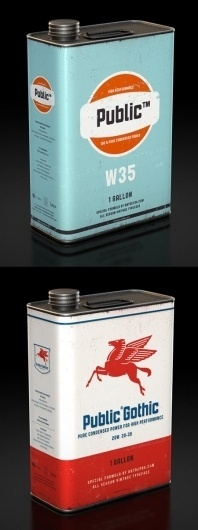 Vintage Oil Cans | AisleOne #typeface #cans #vintage #oil