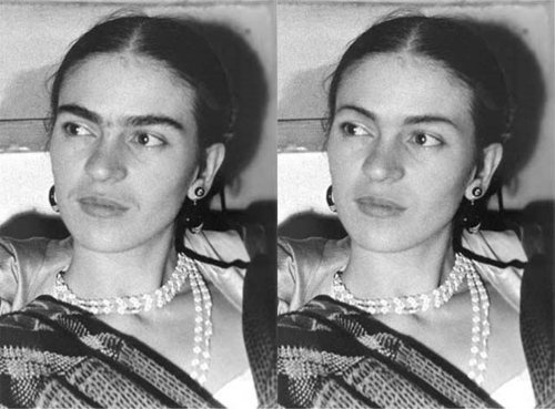 Chimes&Rhymes | innovative design and new techniques in visual artistry #kahlo #white #photo #black #photoshop #frida