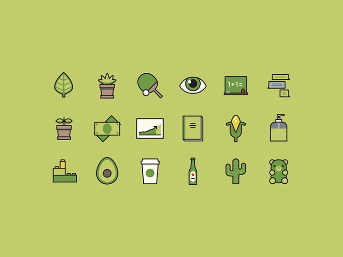 Avocado for to [icon] by Shannon E. Thomas #icons #iconography #avocado #green #freebie