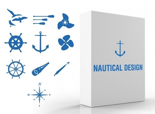 Side Project « Zomg I'm Bored #ocean #vector #design #clean #illustration #sea #blue #anchor #nautical