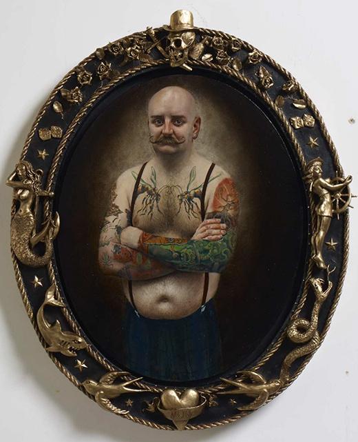 The Art of Stuart Pearson Wright #frame #ornament #illustration #gold #man #moustache
