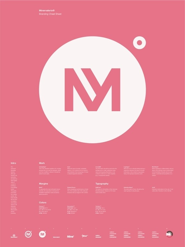 Universal Branding System Poster (Minervalerio) #inspiration #creative #information #branding #icon #design #graphic #grid #system #poster #logo #typography