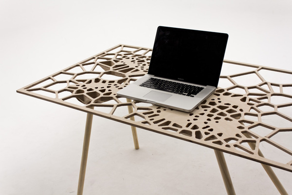 CJWHO ™ (Fall Off Table) #design #interiors #wood #furniture #art #grasshopper #table