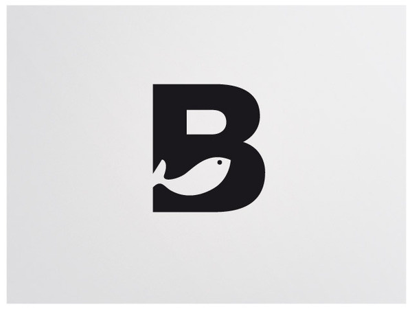 Benito Díaz Logo, by David de la Fuente #inspiration #creative #design #graphic #fish #letter #logo