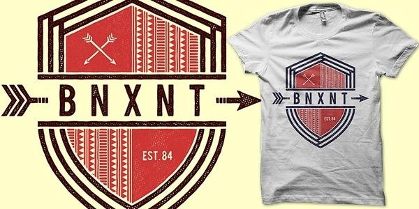 B N X N T T shirt design by binxent Mintees #shirt