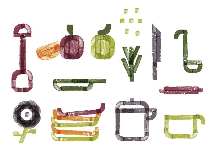 Best Awards - Special Group. / Garden to Table #illustration #fruit #icons #vegetables