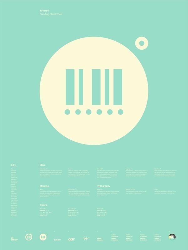 Universal Branding System Poster (adeere) #inspiration #creative #information #branding #icon #design #graphic #grid #system #poster #logo #typography