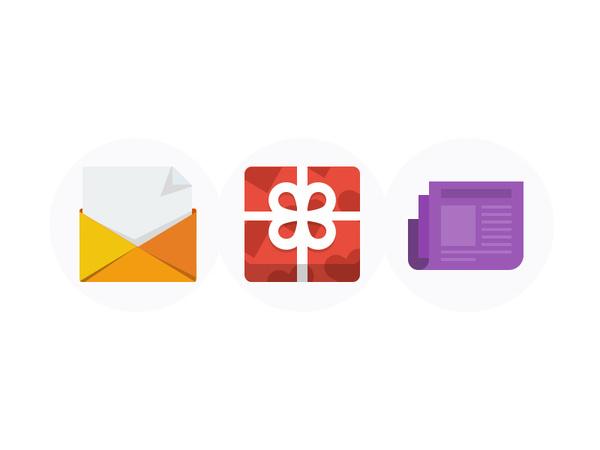 Flat UI Icons #news #icons #box #gift #mail