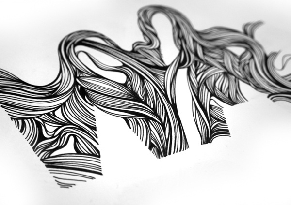 I Wanna Be Adored #lettering #line #hair #type #drawing
