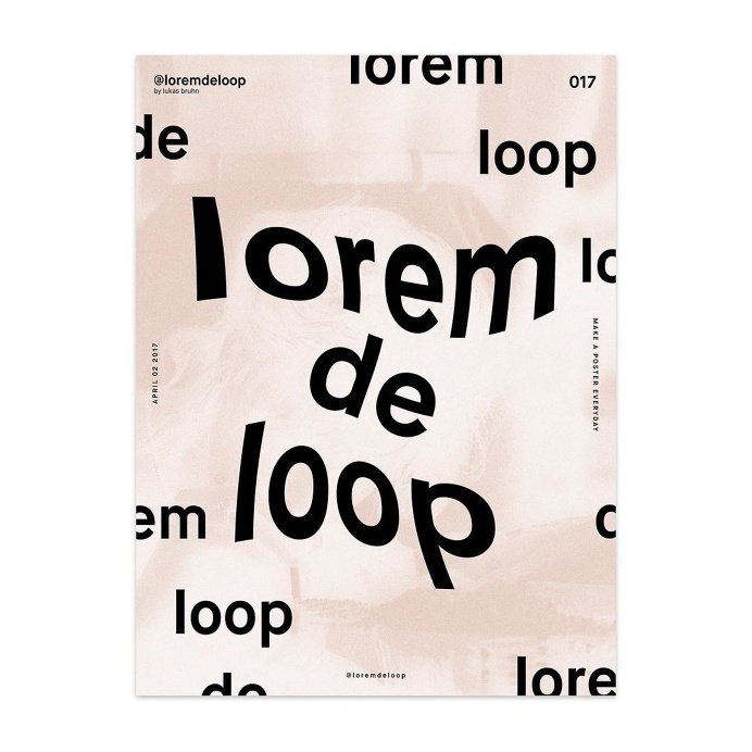 🏴 day 017 #loremdeloop #daily ・ ・ ・ #dailyposter #design #daily #365days #designer #designers #designing #designporn #designlife #d