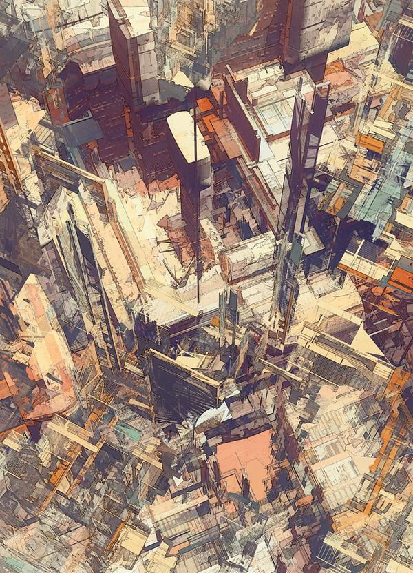 cities IV / deconstructed #city #illustration #digital