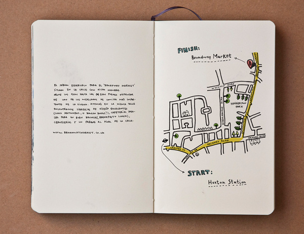 pazmartinezcapuz.com #broadway #market #guide #handwriting #london #map #moleskine #pazmartinezcapuz