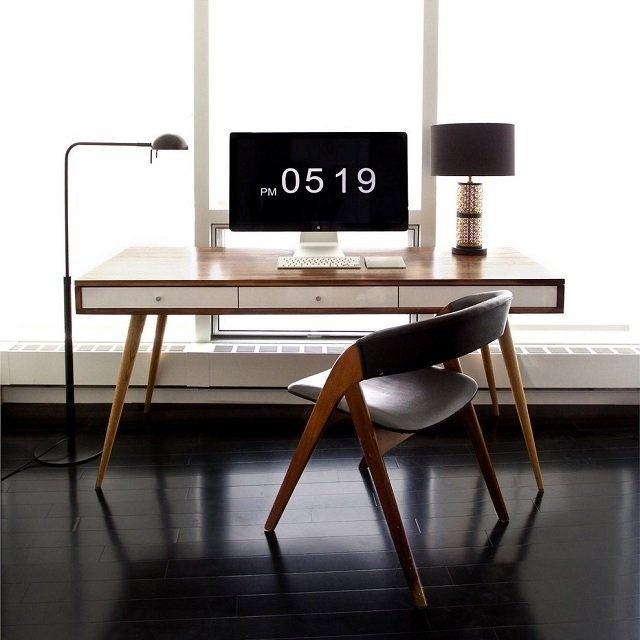 Mid Century Desk by Jeremiah Collection #cool gadget #gadget #gadget flow #gift ideas #tech #cool #gadget #gift #tech